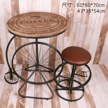 American Village Cafe Retro personality to do the old wrought iron tables and chairs suite furniture combination tea shop creati(China (Mainland))