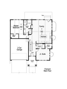 Fremont Ivory Home Floor Plan - Main Level