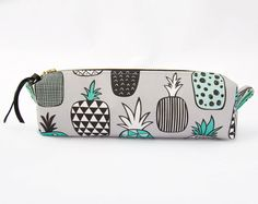 Cute Pencil Case, Pineapple Pencil Pouch, Pineapple Pencil Case, Pineapple Zipper Pouch, Pineapple Lover, Waterproof Lining, Pineapple Bag