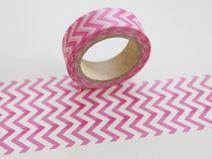 Tape CHEVRON ZickZack pink