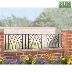 The Abbey Railings are constructed using solid steel for a traditional wrought iron railing appearance. The decorative design creates an attractive wall mounted railing at an affordable price.