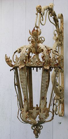 Old Wrought Iron Lantern-beautiful