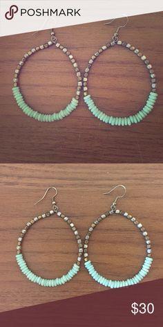 Anthropologie earrings Beautiful beaded anthropologie earrings! Anthropologie Jewelry Earrings