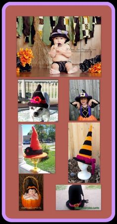 Posh Pooch Designs Dog Clothes: Witch Hats - Tuesday Treasury of Crochet Pattern