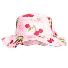 727af70e0d9 Girls Pink Cherry Print Sun Hat
