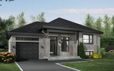 www.maisonslagace.com nos-modeles.html Model House Plan, House Plans, Modern Exterior, Exterior Design, Morden House, Front Door Design, House Paint Exterior, House Elevation, The Way Home