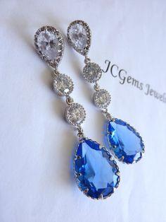Wedding Bridal Wedding Earring  Large Light by JCBridalJewelry, $48.00