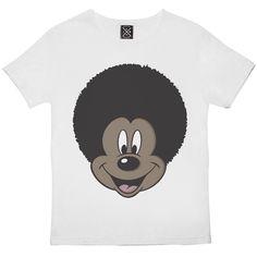 Afro Mickey Blanc