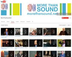 MoreThanSoundnet - YouTube Channel  |  Videos to support personal growth in the areas of leadership, emotional intelligence, sustainability, mindfulness, and integrative medicine.  http://www.morethansound.net