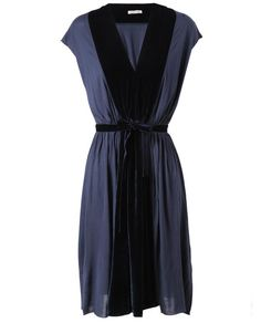 Draped Jersey and Velvet Dress by TOMAS MAIER at Browns Fashion for £530.00
