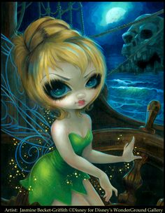 Tinker Bell at Skull Rock by Jasmine Becket-Griffith Tinkerbell