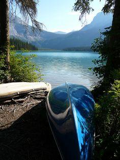 Emerald Lake, Yoho National Park, Canada. Wilderness Campsites.