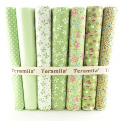 7PCS 50cmx45cm Green cotton patchwork fabric set sewing cloth home textile for craft quilts tilda doll free shipping W3B6-9 $21.84