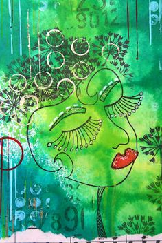 love the girl!! and background colors!!  thekathrynwheel.blogspot.com