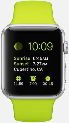 Apple Watch: Faces: Sport