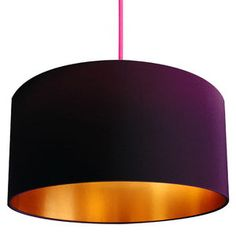 Gold Or Copper Lined Lampshade In Damson - lampshades