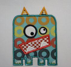 Little Monster Applique Design. $4.00, via Etsy.