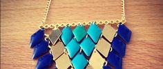 Retrouvez ici comment réaliser un collier géométrique en 30 min.