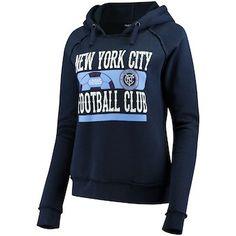 33bb5ecb54c Women s New York City FC 5th   Ocean by New Era Navy Fleece Pullover Hoodie
