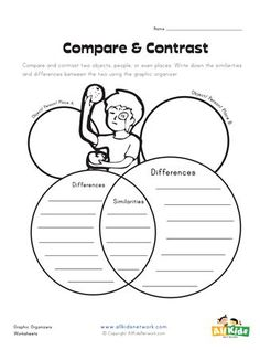 A simple compare and contrast graphic organizer for your