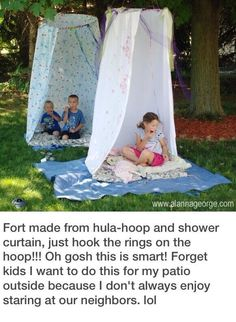 Simple yet fun idea for the kids who love their own little fort!