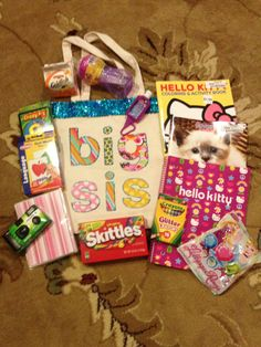 Big Sister Bag so Annie feels important when Summer arrives! Big Sister Bag so Annie feels important Big Sister Bag, Big Sister Gifts, 2nd Baby, Baby Love, Toddler Gifts, Baby Gifts, Getting Ready For Baby, Baby On The Way, School Supplies