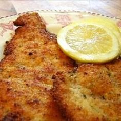 Chicken Milanese: *These can be made into a sandwich or served sliced over pasta with a light drizzle of alfredo sauce over all. You can also top them with a fried egg and a drizzle of hollandaise sauce & shredded cheddar cheese.
