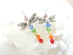 Colorful Dragonfly Earrings Dragonfly Jewelry by pnljewelrydesigns, $16.00