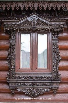This windows facade is unquestionably an outstanding design technique. Wooden Architecture, Russian Architecture, Architecture Details, Wooden Window Frames, Wooden Windows, Unique Buildings, Beautiful Buildings, House Windows, Windows And Doors