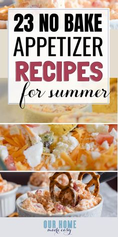 These easy appetizers require zero baking! Enjoy your next Summer potluck with t. These easy appetizers require zero baking! Enjoy your next Summer potluck with these yummy recipes. Baked Appetizer Recipes, Yummy Recipes, Yummy Food, Easy Potluck Recipes, Amazing Recipes, Dinner Recipes, Cold Appetizers, Appetizers For Party, Easy Summer Appetizers