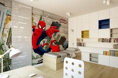 pokój dziecięcy, pokój chłopca, fototapeta, superbohater, spiderman