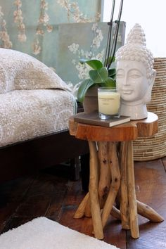 "Have been thinking of using one of my nightstands as a meditation ""corners"" since space will be at a premium."