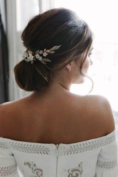 VERSAILLES floral wedding headpiece | Tania Maras