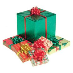 Set of Six Assorted Wrapped Gifts