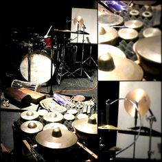 Cyro Baptista, Billy Martin, and Amir Ziv played the Stone in NYC. Free improv pulling from styles all over the world. Here's Amir's kit and (some of) Billy's percussion. #drums #drummers