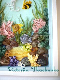 Quilling art, sea bottom