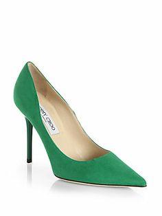 All about #emerald - Jimmy Choo Abel Suede Pumps #jimmychoo