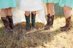 Casual vintage country wedding