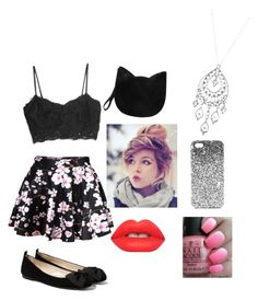"""""""Untitled #8"""" by jordyn-echo ❤ liked on Polyvore featuring MANGO, Topshop, Lime Crime, OPI, Forever 21 and 1928"""