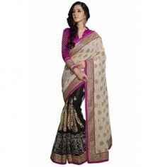 Multicolor Sattin Fancy Work Latest Wedding Sarees