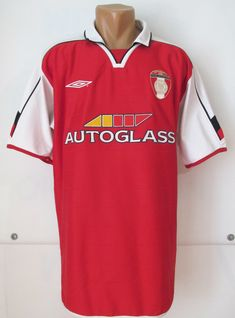 ba8fe90640d ST Patrick's Athletic 2004 home football shirt by Umbro Ireland Dublin  SPAFC jersey soccer vintage red