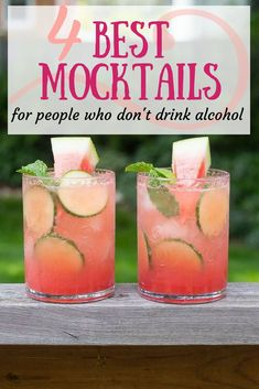 The Best Mocktails For People Who Don't Drink Alcohol. alcool The Best Mocktails For People Who Don't Drink Alcohol Best Mocktails, Mocktail Drinks, Limoncello Cocktails, Drink Recipes Nonalcoholic, Non Alcoholic Cocktails, Alcholic Drinks, Drinks Alcohol Recipes, Refreshing Drinks, Party Drinks