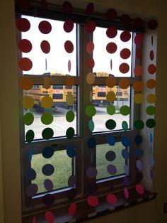 Bunter Fenstervorhang #Kita #Kindergarten