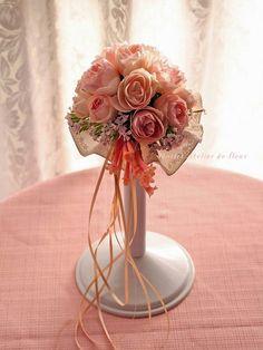 ブーケプルズ用ブーケ。ピンクバラがかわいい