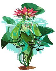 fluffy-raccoon: Today for the MonsterGirls challenge it's the plant girl turn : 1._ Harpy 2._ Centaur 3._ Slime 4._ Naga 5._Mermaid 6._ Spider Girl 7._ Plant Girl…