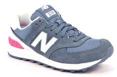 NEW BALANCE WL574CNB FUXIA BIABCO BLU AVIO CHAMBRAY Sneaker Unisex Donna Running