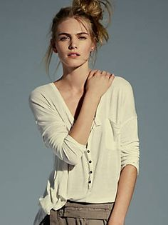 Free People We The Free Boyfriend Henley, $68.00