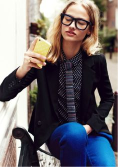 loving this geek chic look