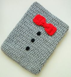 Red Bowtie Ipad Case for men by knitella2011 £26.00