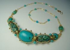 turquoise delight necklace